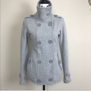 The North Face High Collar Peacoat Sz L